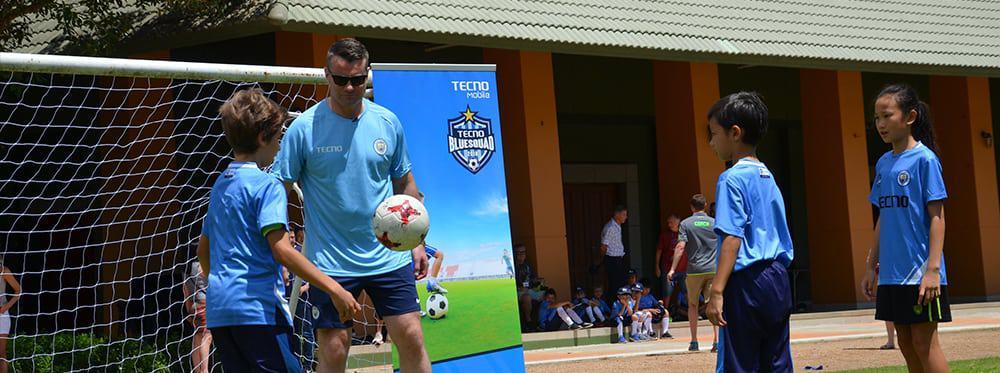 Manchester City FC visit Prem and run a Football Camp