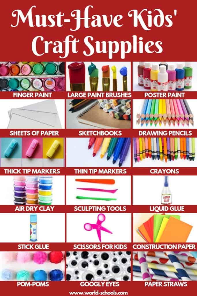 must havr kids crafts supplies-creative kids - art box kids - art box children - craft supplies kids- art kit kids- art kit children - must have home kit- must have diy - diy children