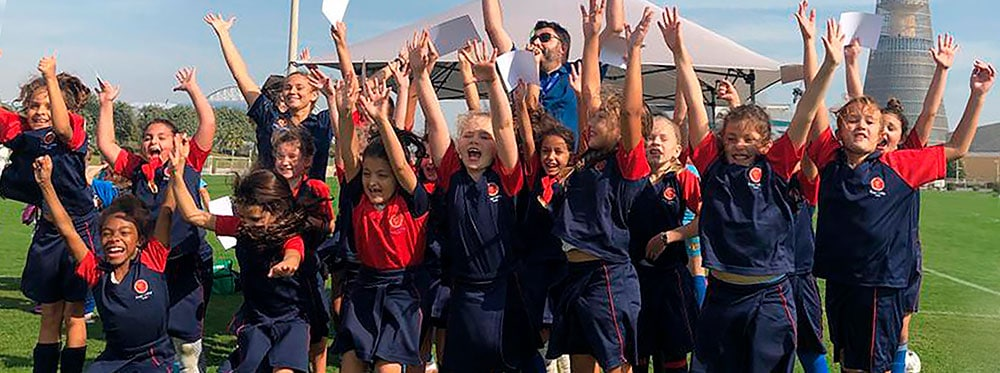 kings college doha - sports- girls football - championship - gold