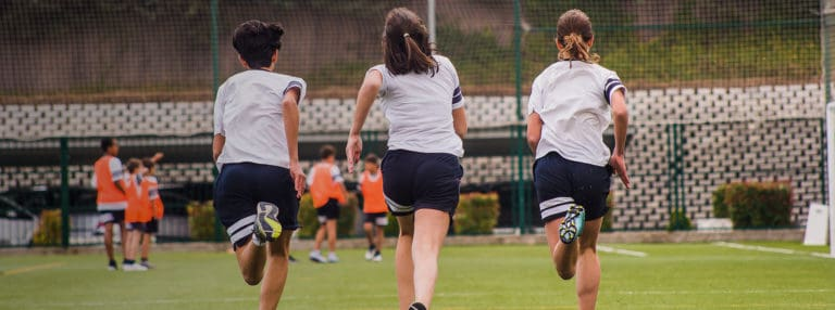 Students from King's College Madrid inaugurate the Daily Mile in Spain