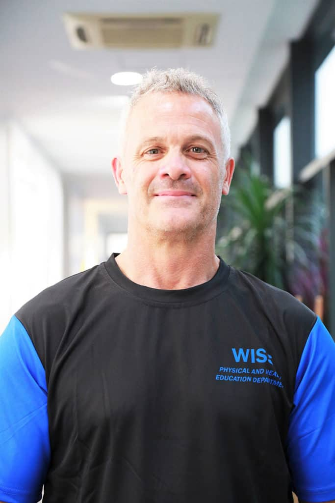 The Director of PHE and Athletics at WISS, Tony Anderson