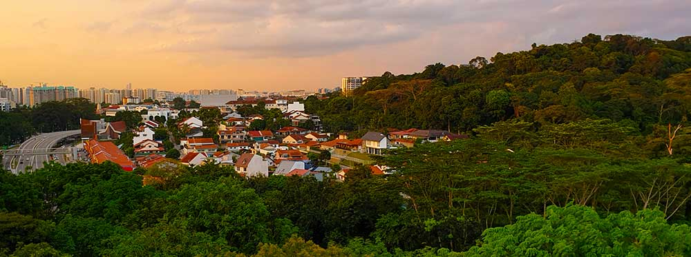Bukit Timah in Singapore during sunset