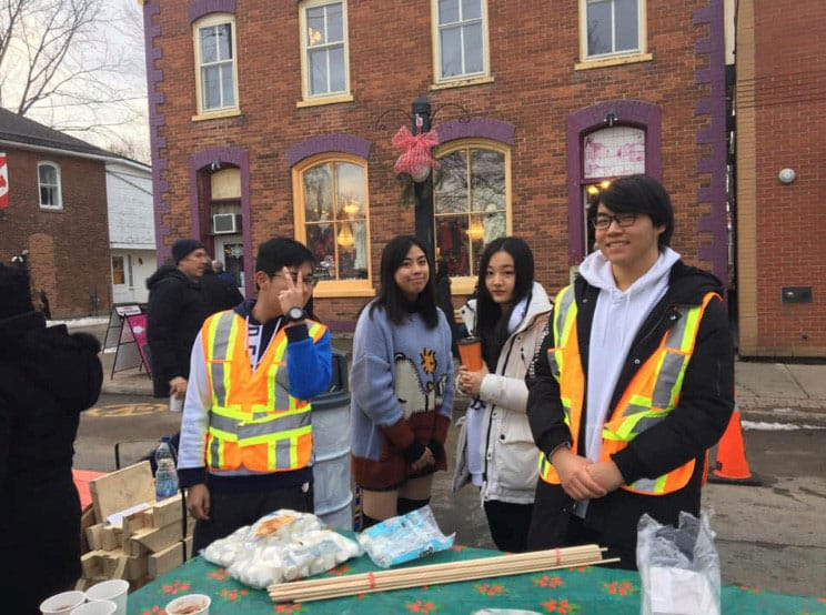 Students at Ontario High School Participate in Community Service