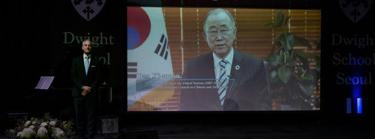 Ban Ki-moon Provides a Message of Hope to Graduating Students During COVID-19