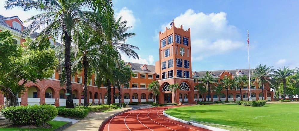 The sport field of Regents International School Pattaya