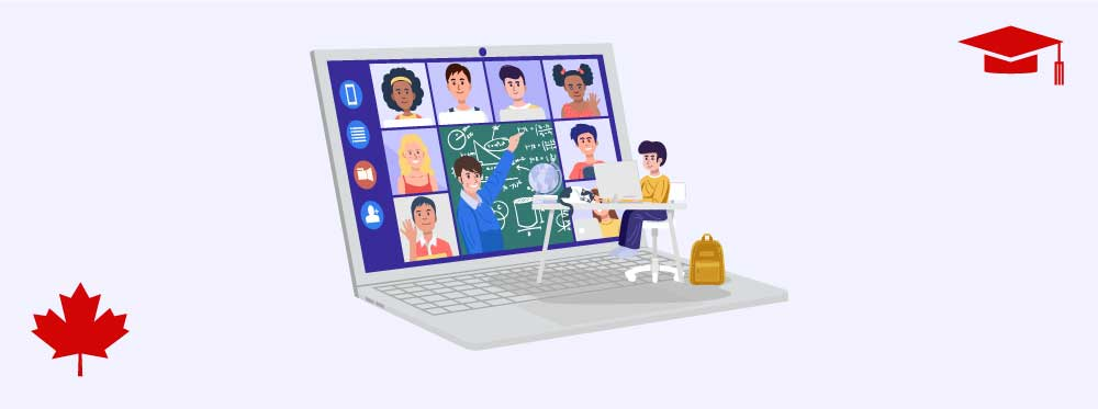 Online schools can provide Canadian education around the world.