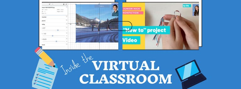 Inside AIS-Salzburg virtual classroom: Grade 9 Math, JH Non-Fiction Mr. Lichty's Virtual Set up