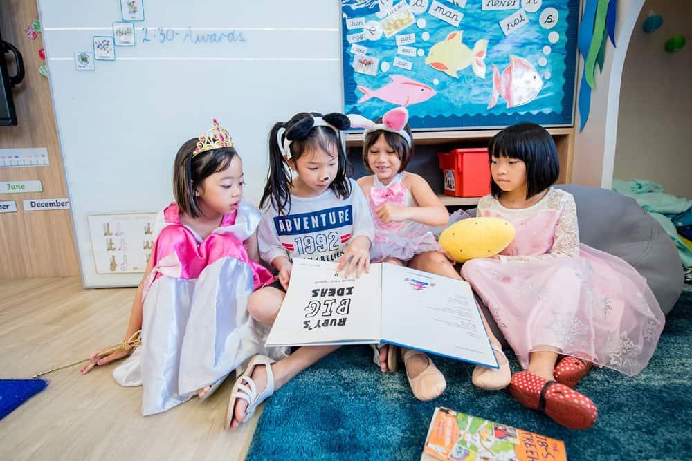 Reading stories together helps children build social bonds.