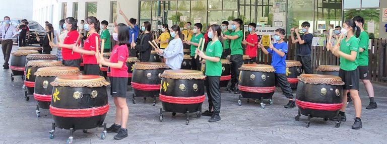 Séances de tambour à l'École internationale Maple Leaf Kingsley