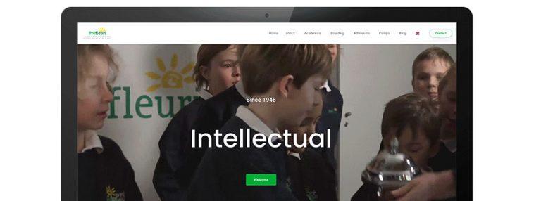 New website for Préfleuri International Alpine School